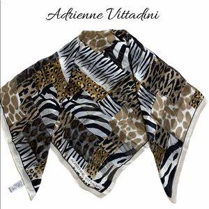 Adrienne Vittadini Large Animal Print Silk…
